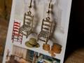 Shaker chair earrings