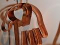 copper heart in hand cookie cutter